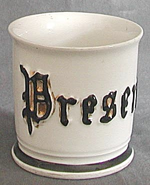 Antique Present Shaving Mug