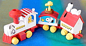 Vintage Snoopy Express Mechanical Wind Up Train