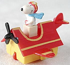 Vintage Snoopy Pilot Red Baron Doghouse Plane