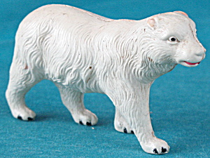 Vintage Celluloid Toy White Polar Bear