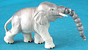 Vintage Celluloid Toy Jointed Elephant