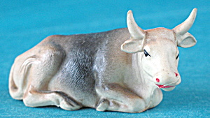 Vintage Celluloid Cow Lying Down