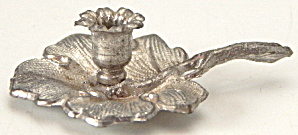 Vintage Dollhouse Miniature Pewter Candlestick