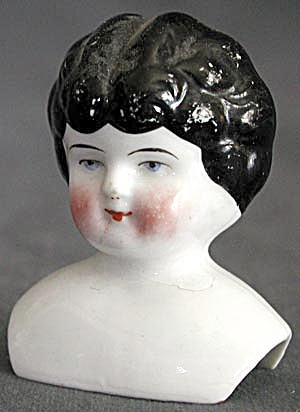 Antique China Low Brow Doll Head