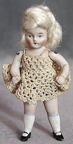 Antique German Small Jointed Doll