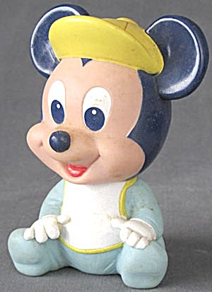 Vintage Disney Baby Mickey Mouse Squeak Toy