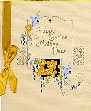 Vintage Easter Card: Mother Dear