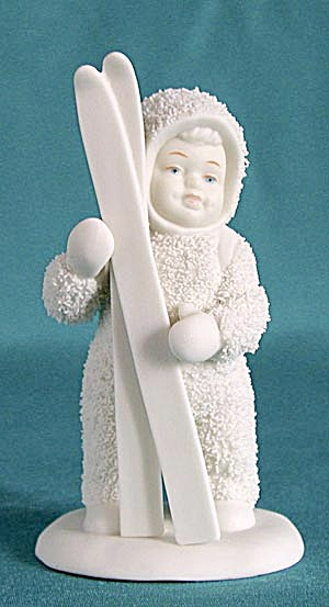 Retired Dept 56 Snowbabies: Let's Go Skiing 6815-2