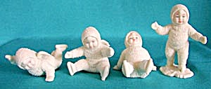 Retired Dept 56 Snowbabies: All Fall Down Set/4