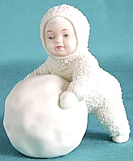 Retired Dept 56 Snowbabies: I'm Making Snowballs