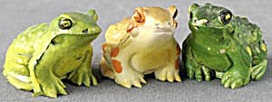 Vintage Rubber Frogs Set Of 3