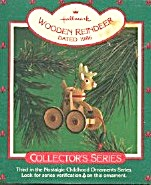 Hallmark Ornament Wooden Reindeer