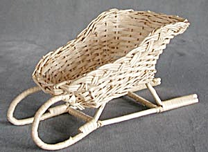 Christmas Wicker Sleigh