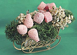Vintage Sleigh Full Of Christmas Candy Decoration