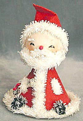 Vintage Triangular Santa