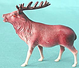 Vintage Celluloid Reindeer Set Of 2