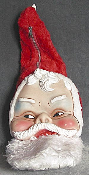 Vintage Santa Plush Pajama/ Treat Bag