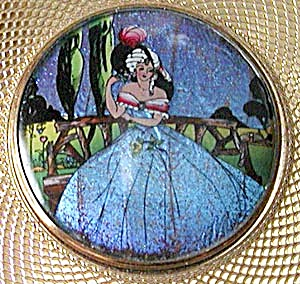 Vintage Stratton Butterfly Wing Lady Compact