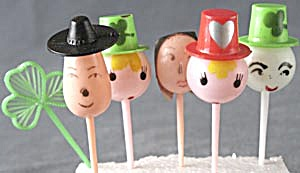 Face Cake Toppers Set Of 5