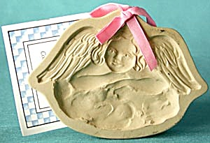 Brown Bag Cookie Mold Angel On Clouds