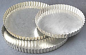 Vintage Fluted French Tart Pans Set Of 3