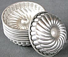 Vintage Aluminum Fancy Jello Molds Set Of 10