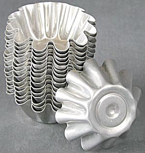 Vintage Aluminum Fancy Jello Molds Set Of 16