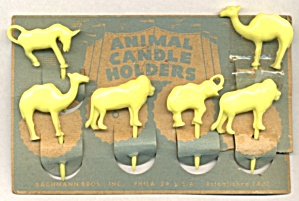 Vintage Zoo Birthday Cake Candle Holders