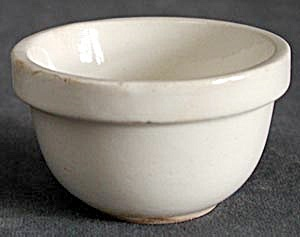 Vintage Small White Mixing Bowl
