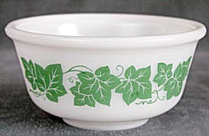 Vintage Hazel Atlas Ivy Glass Mixing Bowls