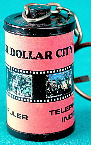 Film Canister Silver Dollar City Keychain