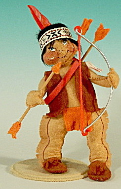 "Annalee 7"" Indian Boy With Bow And Arrow"