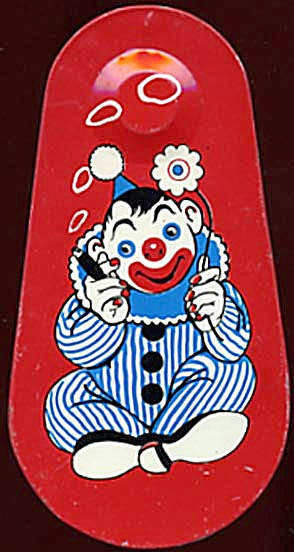 Vintage Tin Clown Noise Maker