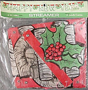 Vintage New Years Eve Streamer