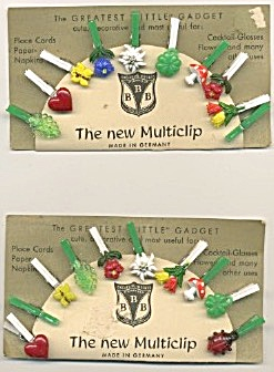 Multiclip Fruit Clips For Place Cards, Cocktail Glasses