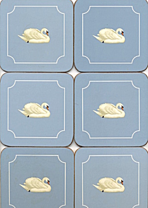Pimpernel Swan Made In England Set Of 6 Coasters