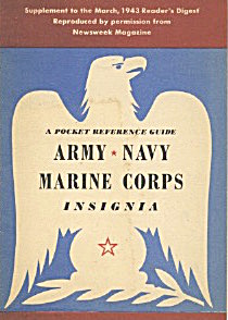 Army, Navy, Marine Corps Insignia A Pocket Reference