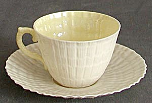 Irish Belleek Tridacna Cup & Saucer