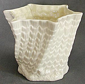 Irish Belleek Octagon Flower Pot