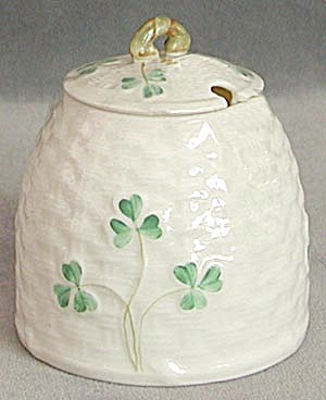 Vintage Irish Belleek Condiment