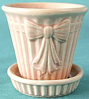 Vintage Bow Flower Pot