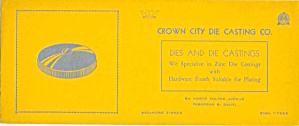 Vintage Blotter Crown City Die Casting