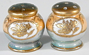 Vintage Luster Salt & Pepper Shakers