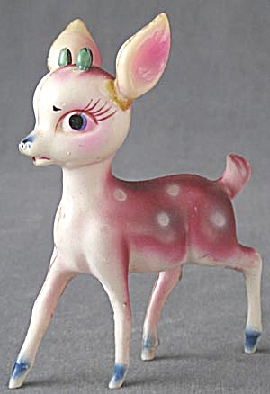 Vintage Celluloid Rudolph The Red Nose Reindeer