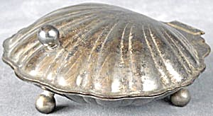 Silver Plated Hinged Clam Shell Dish