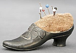 Antique Ladies Shoe Pin Cushion