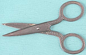 Vintage Metal Child's School Scissors