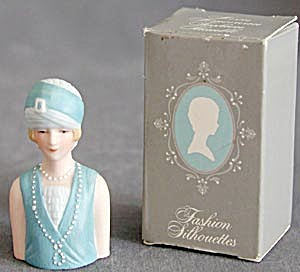 Avon Fashion Silhouettes Thimbles Set Of 4