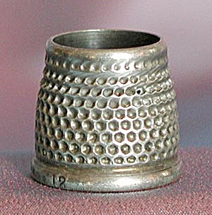 Vintage Sterling Thimble: Tailor's