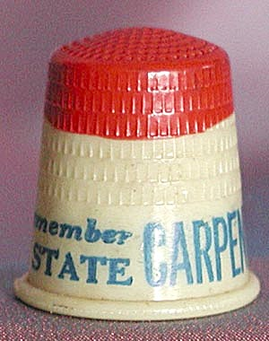 Vintage Political Thimbles Set Of 2